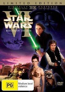 STAR WARS VI  RETURN OF THE JEDI DVD 2 DISC LIMITED EDITION REGION 4 NEW/SEALED