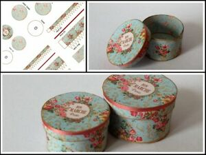Dolls house printed KIT - Shabby Chic Hat Boxes (makes 2)