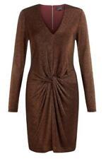 NUEVO Ted Baker Reino Unido 6 8 cobre brillante lizzey Twist Stretch Fiesta Vestido Talla TB' 0'