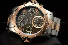 Invicta 50mm Coalition Forces Special Ops Quad Time Black 4 Dial RoseGold Watch