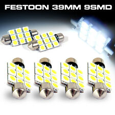 6x Bright White 8SMD 5050 LED Festoon 38mm 39mm Interior Dome Map Light Bulbs US