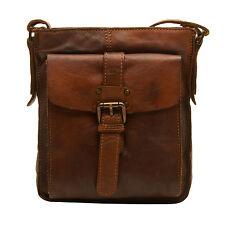 Ashwood - Tan Shoreditch Flight Messenger Bag in Cowhide Leather