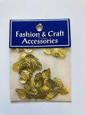 1 PKT OF GOLD LEAF ALUMINIUM CRAFT ACCESSORIES/CHARMS