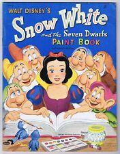 Snow White Paint Book 1952 Unused Whitman Walt Disney Productions Rare
