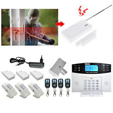 Wireless Wired LCD GSM Home House Alarm CCTV System Security Burglar Sensors MA