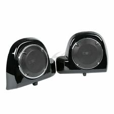 """6.5"""" Speakers w/ Boxes Pods +Grills For Harley Electra Street Road Glide 2014-18"""