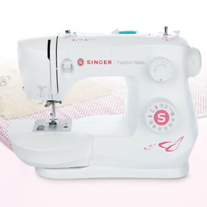Singer Sewing Machine with 23 Built-In Stitches & Heavy Duty Metal Frame - White
