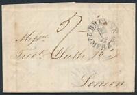 Bremen, Schlüsselstempel auf Brief 1839 mit Inhalt nach London