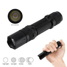 Tactical XM-L2 LED Flashlight Torch 5000lm Hunting Lamp 18650 SOS Strobe Light