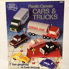 Cars & Trucks Plastic Canvas Karen McDanel American School Needlework Pattern