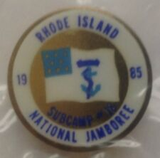 1985 National BSA Scout Jamboree Subcamp 18 Hat Lapel Pin