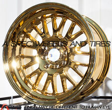 15X8 F1R F04 WHEEL 4x100/114.3 +0 73.1 GOLD CHROME RIM FITS TOYOTA COROLLA SCION