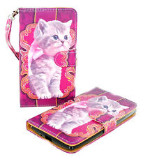 Cute Kitten Design Wallet Leather Case Kyocera Hydro LIFE C6350 ICON C6730