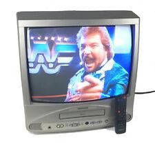 "Magnavox 19"" Color CRT TV + VCR CC19C1MG31 Retro Gaming Original Remote Tested"
