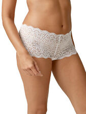 Next size 6 floral lace low rise knickers stretchy shorts briefs NO VPL White