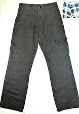 Wrangler Boys Blue Plaid Flannel Lined Ripstop Cargo Pants Dark Gray Size 14