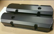 Holden V8 253 308 BLACK Sheet Alloy Fabricated Valve Rocker Covers
