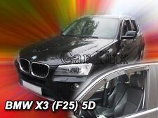 Deflectores de aire Derivabrisas cortavientos ventanillas BMW X3 F25