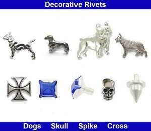Decorative Rivets - Dogs, Skull, Spike, Chaton Rivet, Maltese Cross