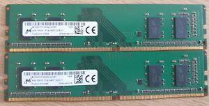 Micron 8GB (2x4GB) DDR4-2400 PC4-19200 MTA4ATF51264AZ-2G3B1 PC Memory