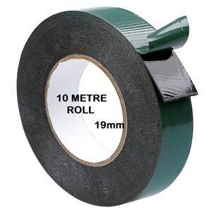 Double Sided Foam Tape 19m x 10M Black Super Strong Permanent Self Adhesive