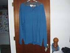 Great Land Long Sleeve Shirt XL 100% Cotton  Corduroy Collar New with Tag