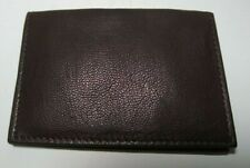 Men's Buxton Card Case Wallet Genuine Leather Mountaineer I.D. Slim Brown NIB