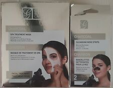 GLOBAL BEAUTY CARE CHARCOAL SPA TREATMENT MASK & CLEANSING NOSE STRIPS BUNDLE
