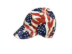 NWT Comeaux Caps NEW DESIGN Stars & Stripes Welding Welders Hat Reversible Sized