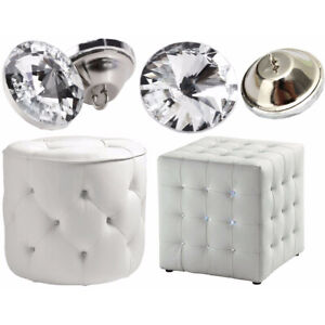 10/100pcs 20mm Diamante Crystal Button Round Upholstery Headboard Chair Sofa
