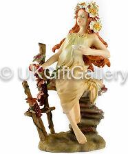 Mucha Four Seasons Sculpture AUTUMN Handpainted Resin Statue  Brand New & Boxed