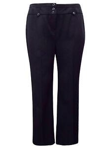 Ex Evans Black Trousers Plus Size 16 18 20 22 24 26 28 30 32 Office Work 456Z
