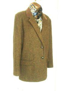 "AVOCA Luxury Irish Tweed Ladies Jacket SZ ""M"" but Fits 16 UK Green fab. colours"