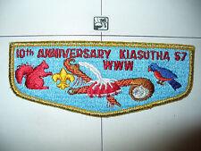 OA Kiasutha 57,S-6b,1977, 10th Ann Lodge Flap,67,130,242,275,441,497,540,Pitt,PA