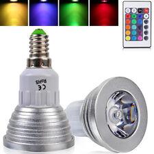 E14 3W RGB Farbwechsel LED Spotlight Licht Lampe mit 24 Key Fernbedienung