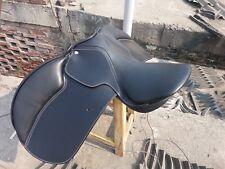 17'' English  saddle black leather all purpose close contact saddle