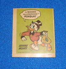 Vintage Disney Scrooge McDuck Sticker Unused
