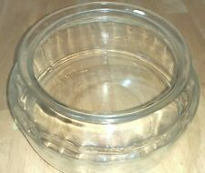 """New listing Vintage Clear Glass 11"""" wide X 6� Tall ~ Low Turtle Fish Terrarium Bowl Planter"""