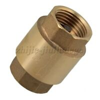 "1/2"" BSPP Thread Spring In-Line Check Valve Brass One Way Valve SWMG Swing Type"