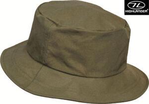 Highlander Foldaway Water Resistant Army Military Bush Travel Sun Boonie Hat New