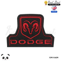 Dodge Car Brand Racing Embroidered Iron On Sew On Patch Badge