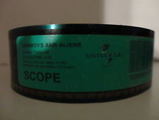 Cowboy's vs Aliens 2011 35mm Film Trailer #2 collectible Scope min/sec 2:30