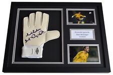 Allan McGregor Signed FRAMED Goalkeeper Glove 16x12 photo display Scotland COA