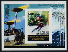 Central Africa C150 imperf MNH Winter Olympics, Skiing