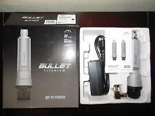 """Ubiquiti Bullet M2HP Titanium + 2.4GHz +30dBi 18"""" Dish Antenna 32 miles range"""