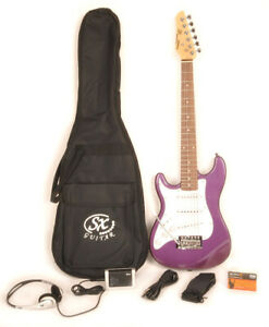 SX RST 1/2 MPP Left Handed Electric Guitar Package 1/2 Size w/Strap and Bag