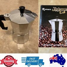Moka Pot, Stove Top Italian Coffee Maker, 1 cup, 3 cups, 6 cups, 9 cups,AU stock