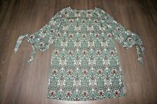 William Morris H&M green floral dress / tunic top 10