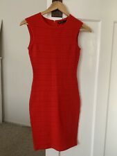 Gorgeous Karen Millen Knit Bodycon Dress Red Sz 1
