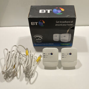 BT Broadband Extender Flex 600 Powerline Adapter 600Mbps Pack of 2 + Cable